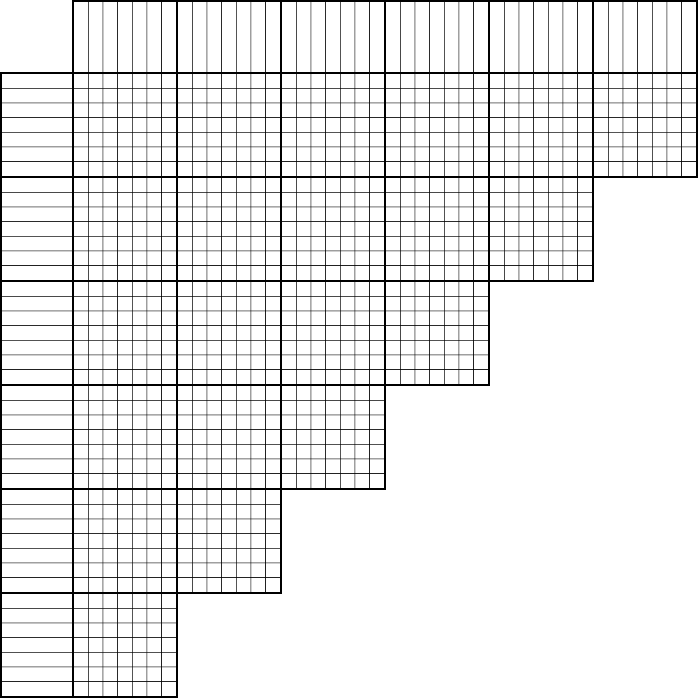 Versatile image for printable logic grid puzzles